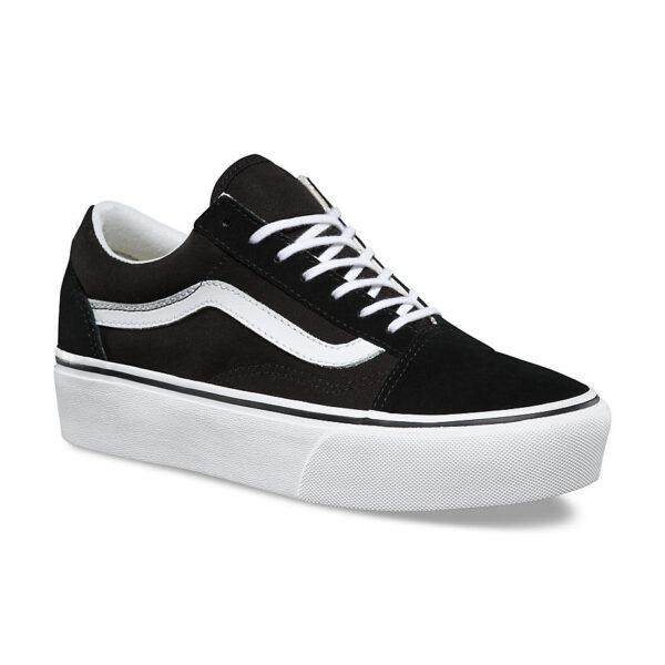 scarpe vans old skool platform black white