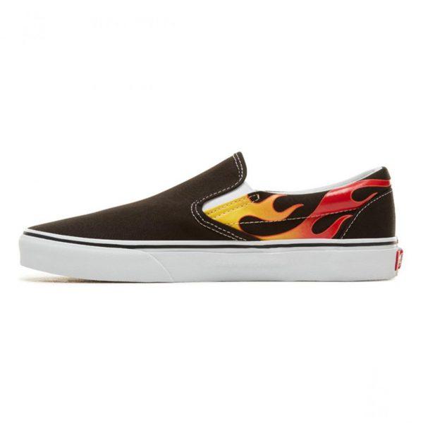 vans classic slip-on flame